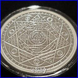 1 OZ. 999 Silver Shield Proof HERMETIC PRINCIPLES with COA & BOX Sacred Geometry11