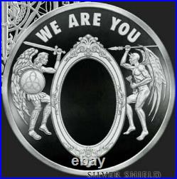 1 oz. 999 silver shield proof We Are You COA BOX SSG Angels Mintage of 999