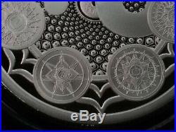 1 oz silver proof Cosmic Chakra seven chakras yin yang. 999 Pure COA BOX yoga