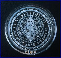 1 oz silver proof Dark Side Of Humanity. 999 Pure COA BOX SSG Silver Shield