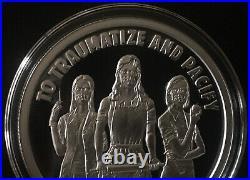 1 oz silver proof Nanny State. 999 Pure Fine COA BOX SSG Silver Shield MAGA Girl