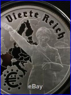 1 oz silver proof das vierte reich The fourth Reich COA! BOX. 999 pure! Hitler