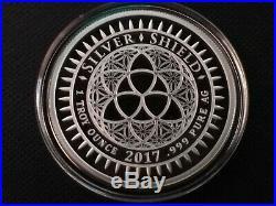 1 oz silver proof make world war again. 999 pure COA Box Trump SSG Asia Korea