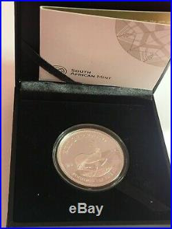 1oz Silver Kruggerand Proof coin boxed with cetificate