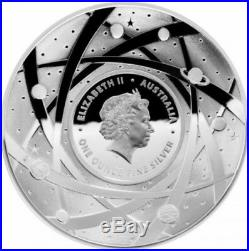 1pc x 2018 Australia beyond earth domed proof silver coin coa box include