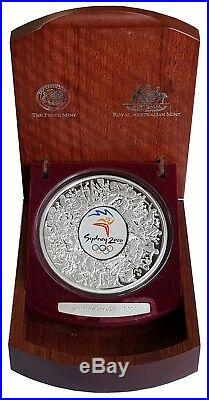 2000 AUSTRALIA SYDNEY OLYMPICS SILVER PROOF ONE KILO 1kg $30 COIN BOXED
