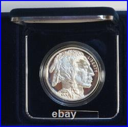 2001 American Buffalo Commemorative Silver Proof Coin with Box, Certificate