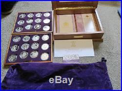 2002 2003Royal Mint Golden Jubilee Crown Set 24 Coins Silver Proof Boxed/COA S