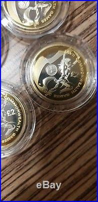 2002 Commonwealth Games £2 Two Pound Silver Proof 4 Coin Set box/coa/outer