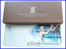 2002 Commonwealth Games Piedfort £2 Two Pound Silver Proof 4 Coin Set Box Coa