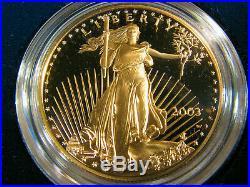 2003 W American Gold Eagle 4 Coin Proof Set w Box COA Platinum Silver Palladium