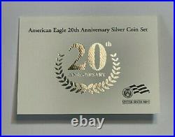 2006 Reverse Proof Silver Eagle 3 Coin 20th Anniversary BU Set with Box & COA