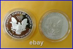 2006 W P 3-Coin Silver Eagle Proof Set 20th Anniversary Box & COA