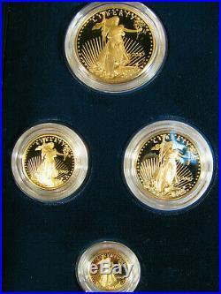 2007 W American Gold Eagle 4 Coin Proof Set w Box COA Platinum Silver Palladium