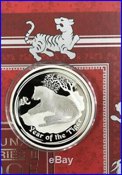 2008 2019-P Australia 12 Lunar 2oz Silver Proof Set come with mint box & COA