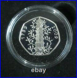 2009 Kew Gardens Silver Proof 50p Coin From Royal Mint Boxed With COA