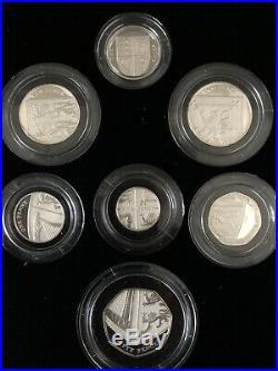 2009 Royal Mint Silver Proof 12 Coin Set includes Kew Gardens 50p BOX COA
