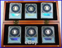 2009-S DC & Territories Silver Proof Quarters-ANACS PR70 DCAM-Complete Set-withBox