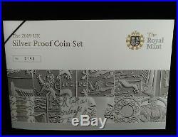 2009 Silver Proof Coin Set Kew Gardens 50p BOX COA 2159 Royal Mint Very rare