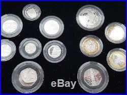 2009 Silver Proof Coin Set Kew Gardens 50p BOX COA Royal Mint no 3117