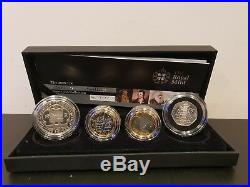 2009 Silver Proof Piedfort 4 Coin Set Kew Gardens 50p Box COA