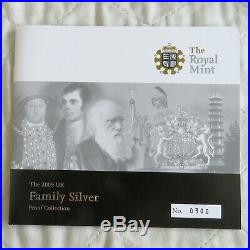 2009 UK FAMILY SILVER PROOF 6 COIN SET WITH KEW 50 PENCE boxed/coa/outer