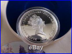 2010 New Zealand silver. 999 1 ounce lunar year of the tiger proof coin box coa