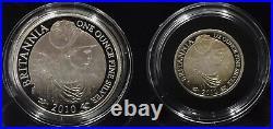 2010 Proof Silver Britannia Set Four Coins Royal Mint 999 Silver BOX + COA