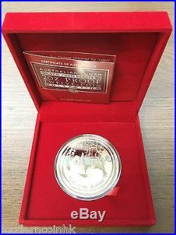2011 Australia Lunar Year Of The Rabbit 2 oz Silver Proof $2 Coin BOX COA