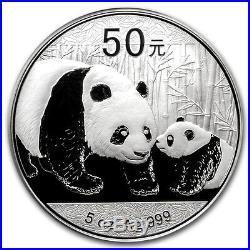 2011 China 5 Oz Silver Panda Proof Coin with BOX & COA