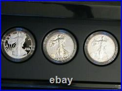 2011 P Reverse Proof Silver Eagle 5 Coin 25th Anniversary Set Box/coa S W #02