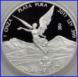 2011 Proof Mexican Libertad 1oz BU In Capsule with Box Rare! Bulk Pricing
