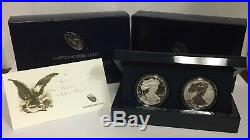 2012 American Silver Eagle 2 Coin 1oz Proof Set-SF Mint with Box & CoA