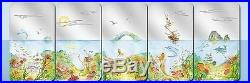 2012 Palau Silver Proof $2 Endless Paradise 5 coin set-BOX-Ship/Dolphin/Shark