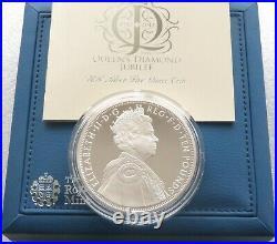 2012 Royal Mint Diamond Jubilee £10 Ten Pound Silver Proof 5oz Coin Box Coa