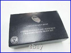 2012-S American Eagle San Francisco 2-Coin Silver Proof & Reverse Set + Box/COA