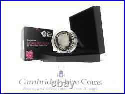 2012 Silver Proof Piedfort London 2012 £5 coin box coa Royal Mint