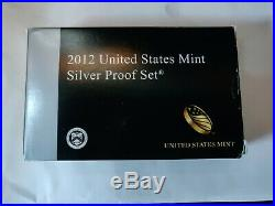 2012 US Mint 14 Coin Silver Proof Set with Original Box and CoA