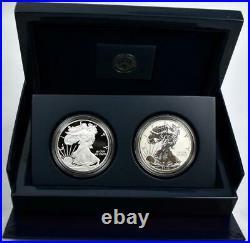 2012 US Mint American Eagle Proof Silver San Francisco Two-Coin Set Box & COA