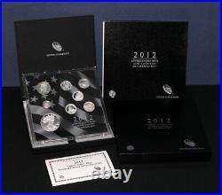 2012 U. S. Mint Limited Edition Silver Proof Set Box Slip Cover COA STOCK