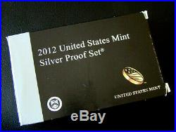 2012 U. S. Mint Silver Proof Set 14 Coins with Box and COA