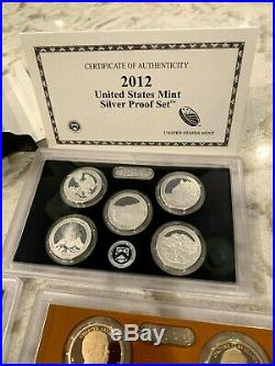 2012 United States Mint SILVER Proof Set 14 coins with Box and COA US