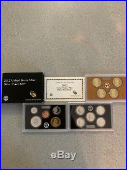 2012 United States Mint Silver Proof (14)-Coin Set with Box & COA
