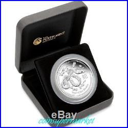 2013 Australia Lunar Year Of Snake 5oz Silver Proof Coin Mintage 5000 COA & Box