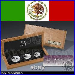 2013 LIBERTAD SILVER PROOF SET 3 Coins in Box & COA 1 1/2 1/4 Oz ONLY 1000