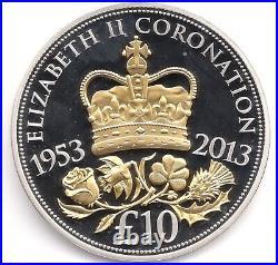 2013 Silver Proof 5oz Coronation Jubilee £10 Coin Box COA