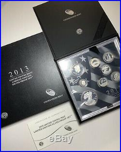 2013 United States Mint Limited Edition Silver Proof Set New In Box With Papers