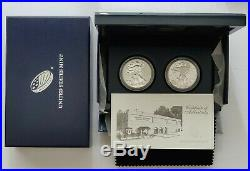 2013 W American Eagle Silver $ (2 coin) REVERSE PROOF Set with Mint Box & COA