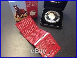 2014 5 oz Australian Lunar Year of The Horse Bullion Proof Silver Coin Box-COA