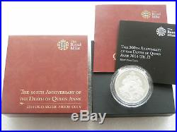 2014 Royal Mint Queen Anne £5 Five Pound Silver Proof Coin Box Coa